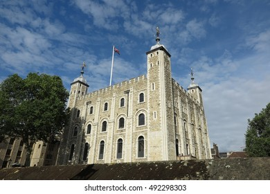 London, Tower of London, White Tower on a sunny day