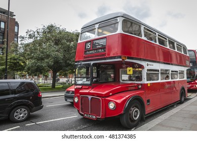 LONDON TRANSPORT, LONDON, ENGLAND-19th AUG 2015:-Iconic forms of transport from Englands first city, London.