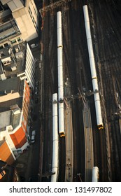 London transportation with trains, England