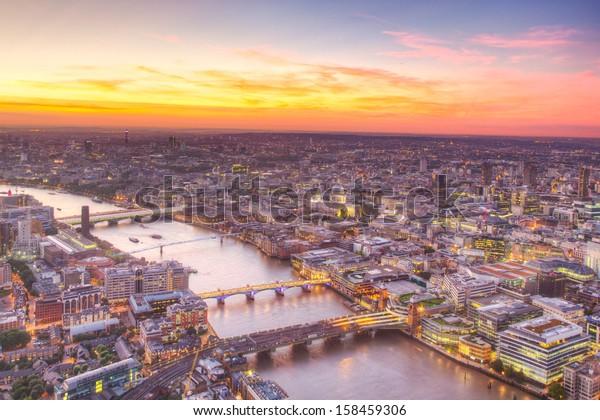 Londres a la vista del ocaso