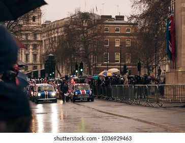 London / UK - 01.01.2017 : Mini Coopers at New Year`s Day Parade