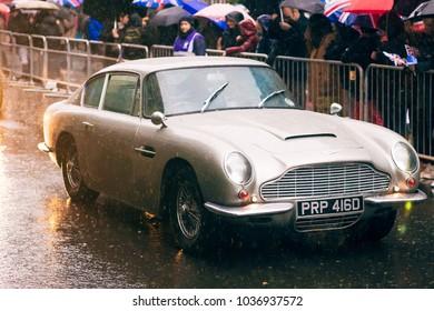 London Uk  Vintage Aston Martin At New Years