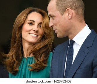London, UK. 02 October, 2019. The Duke and Duchess of Cambridge attend a special event hosted by His Highness The Aga Khan at the Aga Khan Centre.
