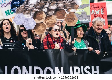 London / UK - 03/17/2019: Abortion Rights Organisation at St Patrick's Day Parade