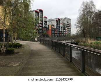 London / UK- 04 15 2018: Greenwich Millennium Village
