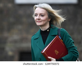 London, UK. 04 December, 2018. Elizabeth Truss MP, Chief Secretary to the Treasury, arrives at the weekly Cabinet Meeting, 10 Downing Street.