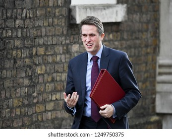 London, UK. 04 December, 2018. Gavin Williamson CBE MP, Secretary of State for Defence, arrives at the weekly Cabinet Meeting, 10 Downing Street.