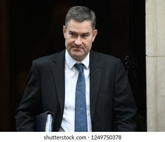 London, UK. 04 December, 2018. David Gauke MP, Lord Chancellor and Secretary of State for Justice, leaves the weekly Cabinet Meeting, 10 Downing Street.