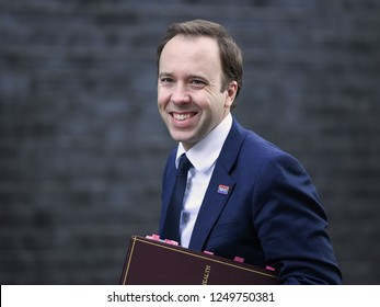 London, UK. 04 December, 2018. Matt Hancock MP, Secretary of State for Health and Social Care, arrives at the weekly Cabinet Meeting, 10 Downing Street.