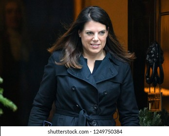 London, UK. 04 December, 2018. Caroline Nokes MP, Minister of State for Immigration, leaves the weekly Cabinet Meeting, 10 Downing Street.
