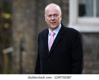 London, UK. 04 December, 2018. Chris Grayling MP, Secretary of State for Transport, arrives at the weekly Cabinet Meeting, 10 Downing Street.