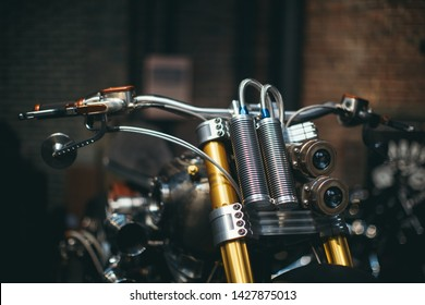 London, UK 05-26-2016 Bikeshed London is 3 day, well known, world class motorcycle show. Custom built bikes, hand made apparel, photos, music and food. Probably, one of the best motorcycle event.