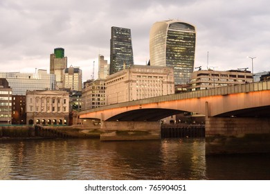 London, UK. 07 February, 2017. The Leadenhall Building and 20 Fenchurch Street Walkie Talkie.