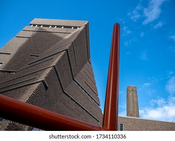 LONDON, UK - 09/21/2018:  View of the Tate Modern Gallery on Bankside