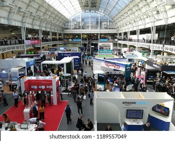 London / UK - 09.27.2018: eCommerce Expo, Technology for Marketing and Ad:Tech London 2018 opens at Kensington Olympia.