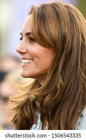 London, UK. 10 September, 2019. The Duchess of Cambridge attends the 'Back to Nature' Festival at RHS Garden Wisley.