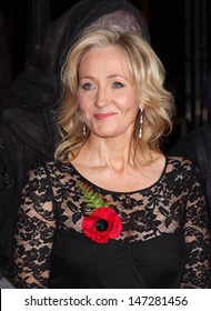 London, UK.  111110. J K Rowling at the World Premiere of the film Harry Potter and the Deathly Hallows Part 1 held at the Odeon Leicester Square. 11 November 2010.