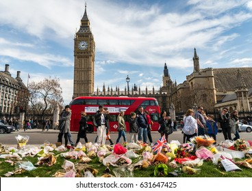 London, UK. 11th Apr, 2017. Following the terrorist attack in London on March 22nd, 2017, authorities have installed special security equipment on Westminster Bridge and surrounding areas
