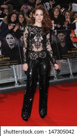 London, UK.  141112. Kristen Stewart at the UK Premiere of the film The Twilight Saga: Breaking Dawn Part 2 held at the Odeon Cinema, Leicester Square. 14 November 2012.