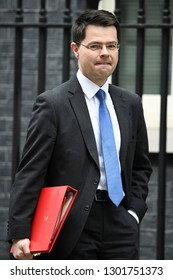 London, UK. 15 Januari, 2019. James Brokenshire, Secretary of State for Housing, Communities and Local Government, leaves the Cabinet Meeting, 10 Downing Street.