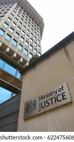 London, UK - 16 April, 2017: The Ministry of Justice sing and office building in Westminster area of London. 16/04/2017.