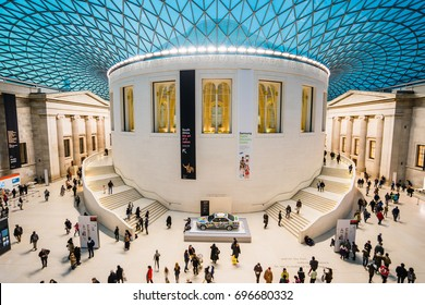 LONDON, UK - 17 FEBRUARY, 2017: The British Museum is dedicated to human history, art and culture, and is located in the Bloomsbury area of London.