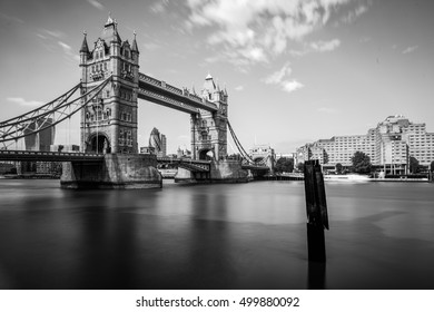 LONDON, UK - 17TH OCTOBER 2016: Long Exposure of Tower Bridge
