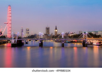 LONDON, UK - 17TH OCTOBER 2016: Long Exposure of The Thames in London