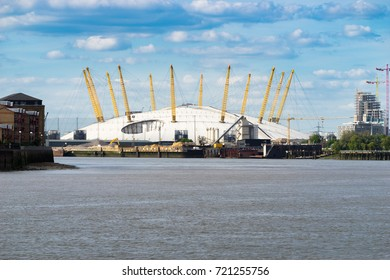 LONDON, UK; 18.04.17: O2 Arena viewed at sunny day.The O2 Arena, is a multi-purpose indoor arena located in the centre of The O2