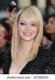 London, UK.  180612. Emma Stone at the Gala Premiere of the film The Amazing Spider-Man held at the Odeon Leicester Square. 18 June 2012.