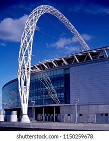 LONDON UK - 18TH SEPTEMBER 2016; Architectural detail of the arch of Wembley Stadium in North London