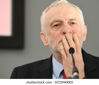 London, UK. 19 April, 2018. Jeremy Corbyn, leader of the Labour Party launches the party's Social Housing review and Green Paper consultation - Housing for the Many.