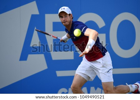 London, UK. 20 June, 2017. JORDAN THOMPSON (World No. 90) wins from ANDY MURRAY (World No. 1), Aegon Tennis Queen's Club.