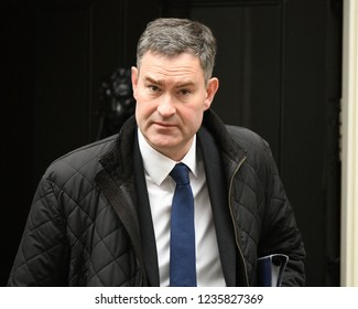 London, UK. 20 November, 2018. David Gauke MP, Lord Chancellor and Secretary of State for Justice, leaves the weekly Cabinet Meeting, 10 Downing Street.