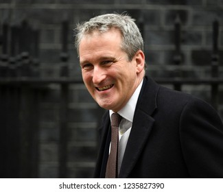 London, UK. 20 November, 2018. Damian Hinds MP, Secretary of State for Education, leaves the weekly Cabinet Meeting, 10 Downing Street.