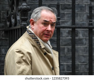 London, UK. 20 November, 2018. Geoffrey Cox QC MP, Attorney General, at the weekly Cabinet Meeting, 10 Downing Street.