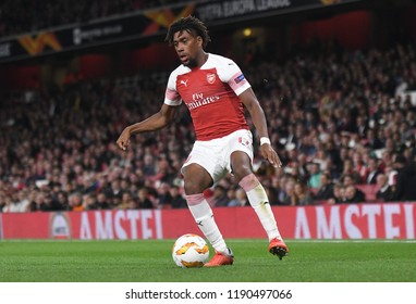 LONDON, UK - 20 SEPTEMBER, 2018: Alex Iwobi pictured during the UEFA Europa League Group E game between ARsenal and Vorskla Potlava.