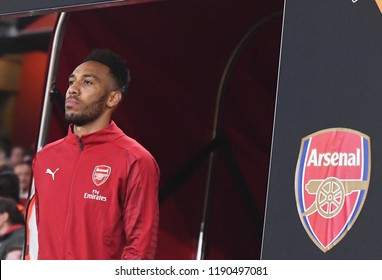 LONDON, UK - 20 SEPTEMBER, 2018: Pierre-Emerick Aubameyang pictured during the UEFA Europa League Group E game between ARsenal and Vorskla Potlava.