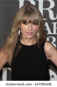 London, UK. 200213. Taylor Swift at the 2013 Brit Awards held at the O2 Arena in North Greenwich. 21 February 2012.