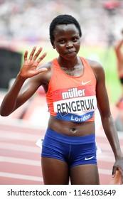London, UK. 21 July, 2018. Lilian Kasait RENGERUK wins the 3000M WOMEN at the IAAF Diamond League, Muller Anniversary Games.