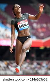 London, UK. 21 July, 2018. Khaddi SAGNIA competes at the IAAF Diamond League, Muller Anniversary Games.
