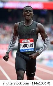 London, UK. 21 July, 2018. Abdalleleh HAROUN wins the MEN'S 400M at the IAAF Diamond League, Muller Anniversary Games.