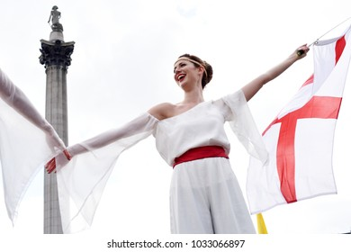 London, UK. 22 April, 2017. Feast of St George, Trafalgar Square.