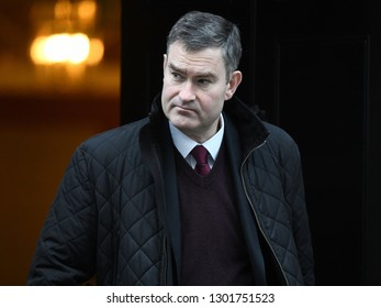 London, UK. 22 Januari, 2019. David Gauke, Lord Chancellor and Secretary of State for Justice, leaves the Cabinet Meeting, 10 Downing Street.