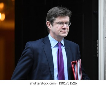 London, UK. 22 Januari, 2019. Greg Clark, Secretary of State for Business, Energy and Industrial Strategy, leaves the Cabinet Meeting, 10 Downing Street.