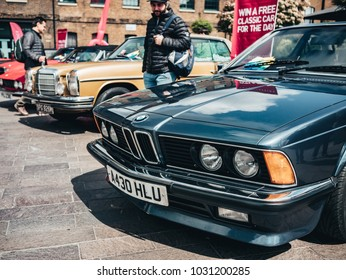 London / UK - 22.04.2017 : Classic old style cars on Classic Car Boot Sale