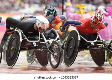 London, UK. 23 July, 2017. HUG Marcel wins Men's 5000m T54 Final - WORLD PARA ATHLETICS CHAMPIONSHIPS LONDON 2017.