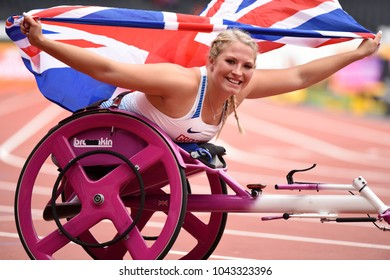London, UK. 23 July, 2017. KINGHORN Samantha, Gold Women's 100m T53, World Para Athletics Championships.