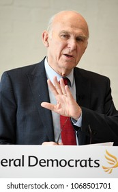 London, UK. 23 March, 2018. Party Leader, Vince Cable at the Liberal Democrats Brexit Event.