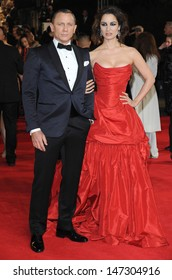 London, UK.  231012. Daniel Craig and Berenice Marlohe at the Royal World Premiere of the film Skyfall held at the Royal Albert Hall in Kensington. 23 October 2012.